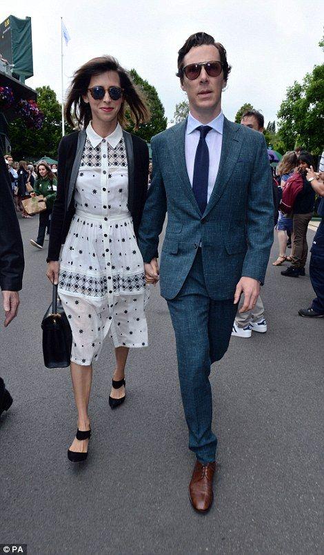 Benedict Cumberbatch and wife Sophie Hunter...