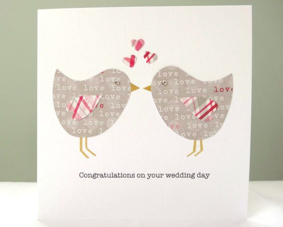 Personalised wedding card  wedding congratulations by FluffyDuck, £3.95