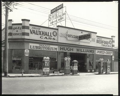 ca.1930-1945Footscray Motors, Hugh Williams Pty Ltd, 71 Hopkins Street, Footscray.