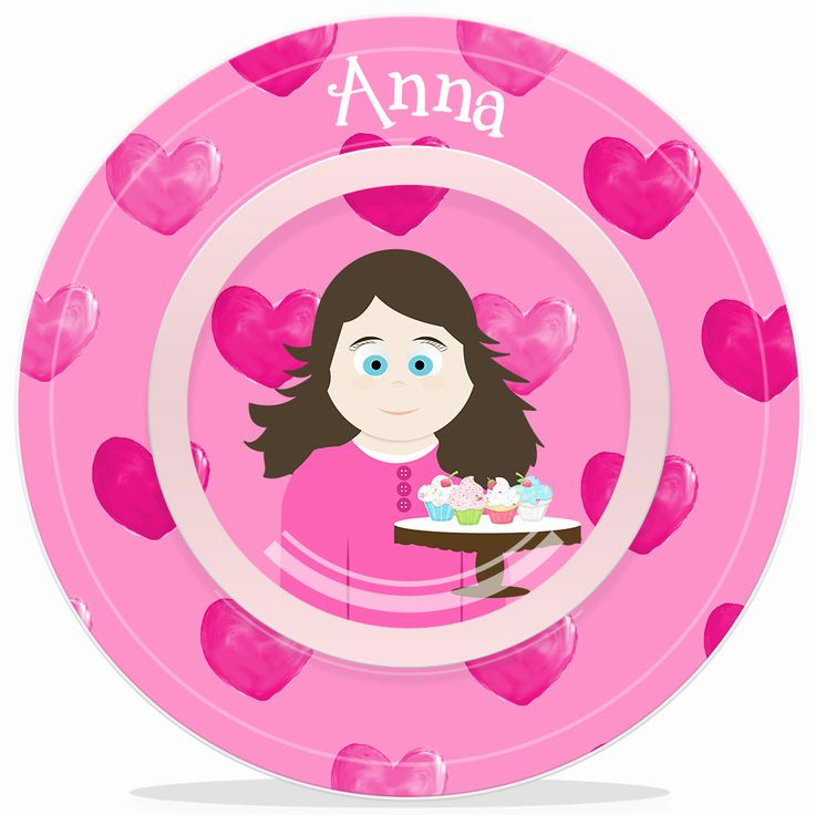 Personalized Kids Bowl -Little Me Girls Valentine Bowl  sc 1 st  Pinterest & 9 best Plates bowls \u0026 placemats just for kids images on Pinterest ...