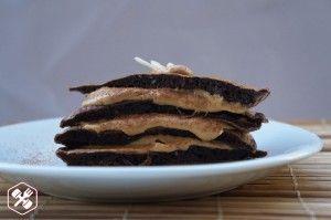 Panqueca de Cacau com Pasta de Amendoim (sem glúten)