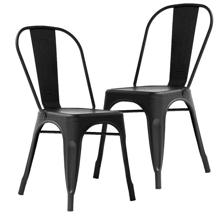 Set of 2 - Tolix  Chair - Xavier Pauchard Reproduction - Matte Black