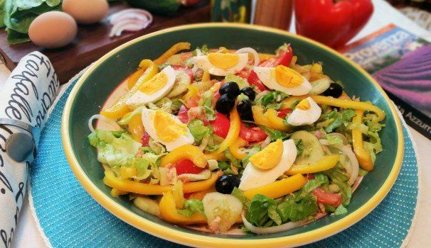Ricetta insalata nizzarda   Nizzarda salad recipe