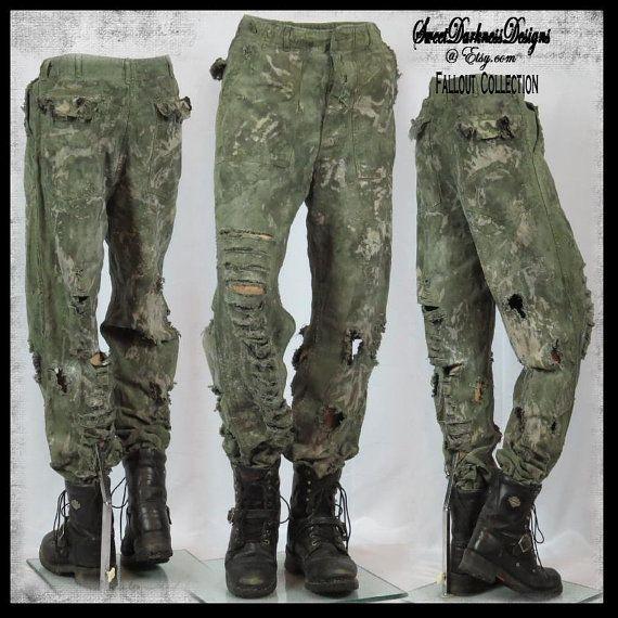 Post apocalittico PANTALONI MENS Vietnam esercito pantaloni Mad Max pantaloni Fallout pantaloni MULti dimensioni militari Zombie Wasteland pantaloni da WastelandWearable