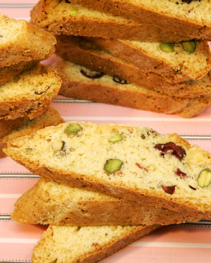 """This recipe for cranberry-pistachio biscotti is adapted from """"Martha Stewart's Baking Handbook."""""""