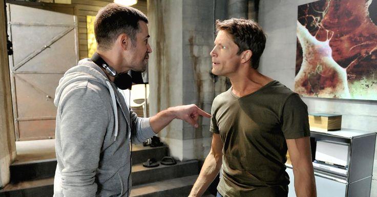 Jo Weil - On Set Shoot Vorbidden Love with fellow Co -Star Mickey Hardt