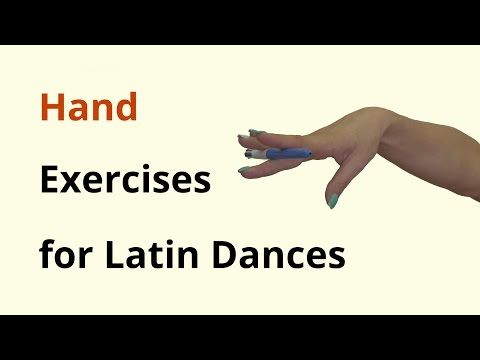Hand Exercises for Latin Dancing - YouTube