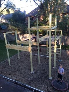 """Are you as fit as an American ninja? This DIY """"American Ninja Warrior"""" course can be built in just 3 weekends.In the future, America's military could be trained as """"Ninja Warriors."""" Courses have..."""
