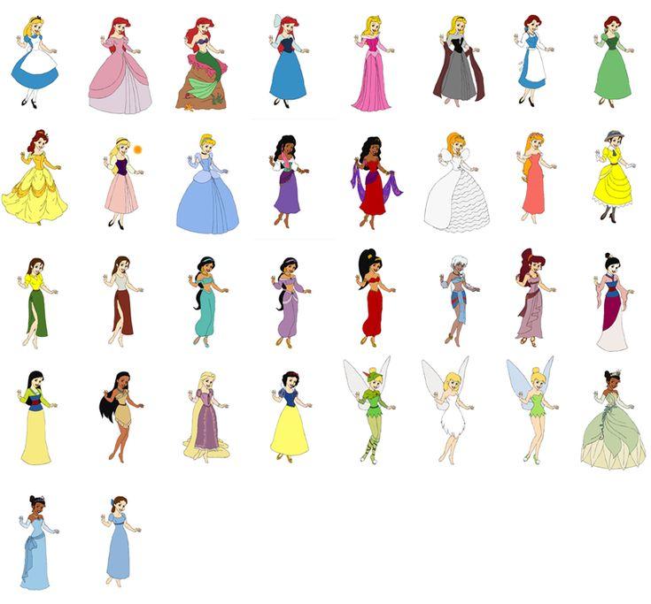 Disney Princess Cinderella Wedding Dress Up Games : Alice ariel aurora belle eilonwy cinderella
