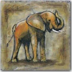 Safari Elephant Art Print