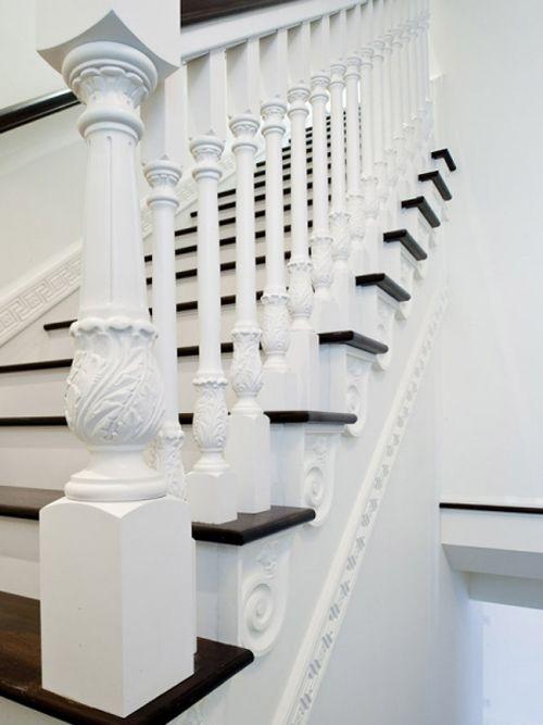 TÉRKULTÚRA lakberendező. Lakberendezési blog.: Fehér lépcsők - klasszikus stílusban