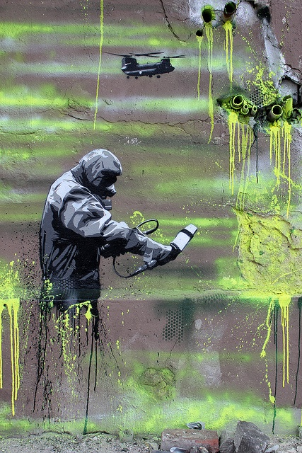 At RAW  Berlin based Street Artist Plotbot KEN became known for his high quallity multi layer stencils in Berlin.