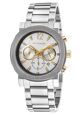 71% Off Wittnauer Men's Chrono SS Silver-Tone Dial Watch