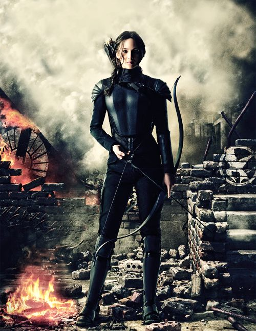 """ New promotional image of Katniss Everdeen in Mockingjay Part 1 """