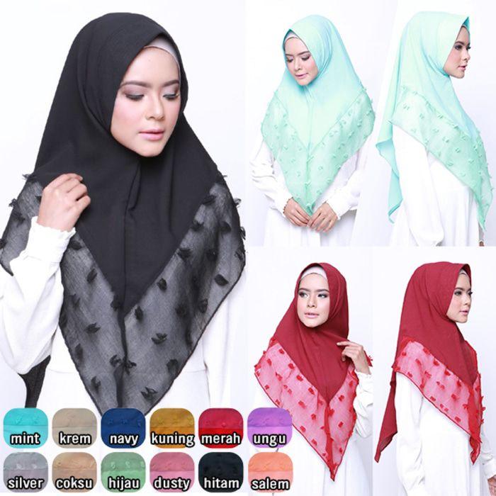 Jilbab Khimar Ruby Crepe / Hijab terbaru Ruby terbaru / Jilbab masa kini crepe Keterangan hijab: Model Jilbab terbaru khimar menggunakan pad antem spons ya