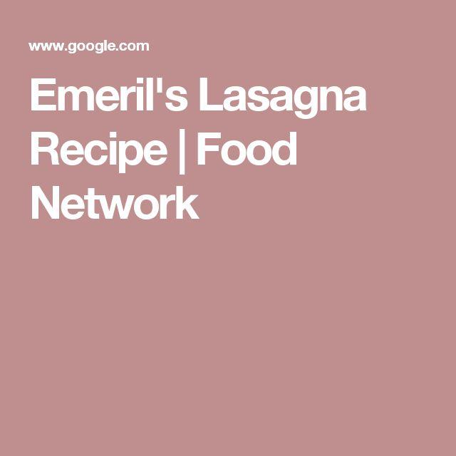 Emeril's Lasagna Recipe | Food Network