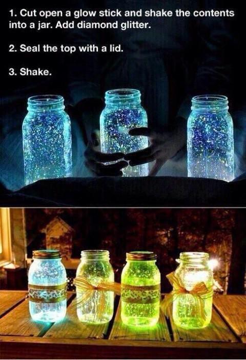 How to make Glowing Jar....
