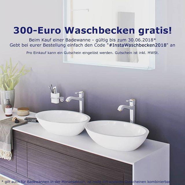 Wir Uns Etwas Tolles Fur Euch Uberlegt Beim Kauf Einer Badewanne Erhaltet Ihr Mit Dem Code Instawaschbecken2018 Ein Guts Bathroom Vanity Sink Bathroom