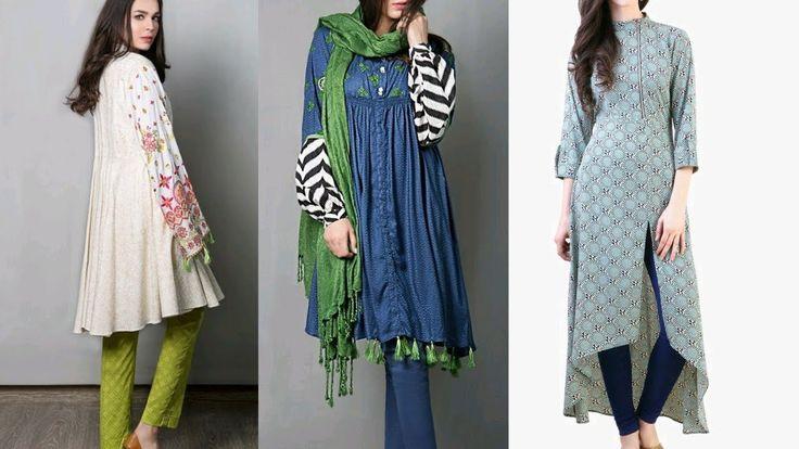 College Wear Simple Kurti Designs    Frock Kurti With Pant/Palazoo   Ana...