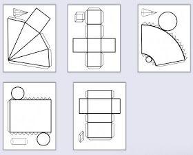 Ve školce děti začaly pracovat s geometrickými tělesy, tak jsem si říkala, že sem dám i nějaké další věci k téhle pomůcce.   Tak třeba tyh...
