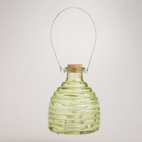 One of my favorite discoveries at WorldMarket.com: Glass Wasp Catcher, Green