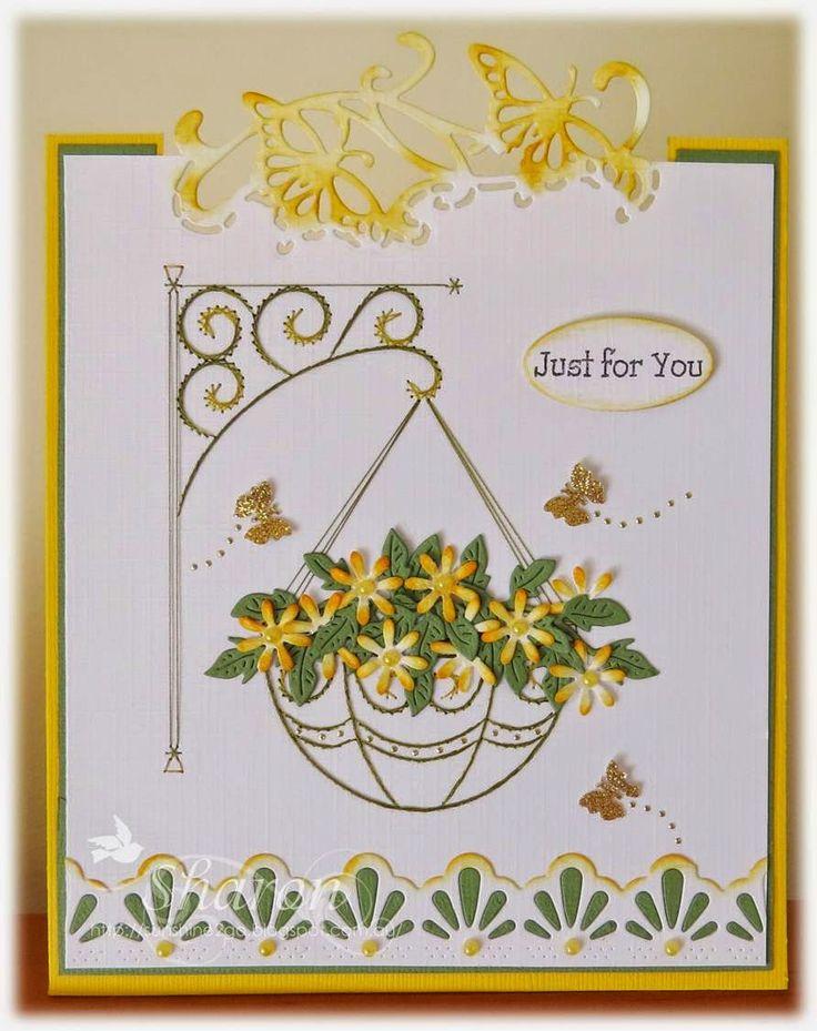 Pattern by Ann's Paper Art a688. Marianne Design CR1267. Cheery Lynn Darling Daises & Flourish leaf strip.  Joanna Sheen Lace Edger2