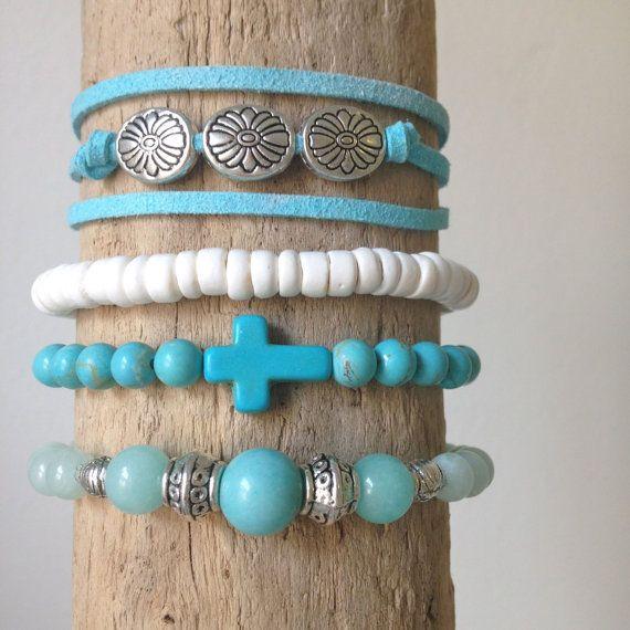 beachcomber turquoise faux suede bracelet by beachcombershop