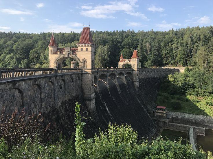 Water dam Forest Kingdom. Les Království. Unbelivable beauty. Czech nature.
