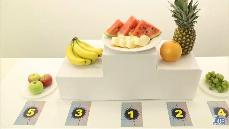 Пьедестал по наименьшей калорийности:на 1ом масте фрукты наименьшей калорийности на последнем самый калорийный фрукт среди указанных -яблоко