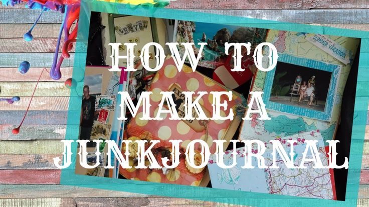 How to make a mixedmedia junkjournal 6 different way's