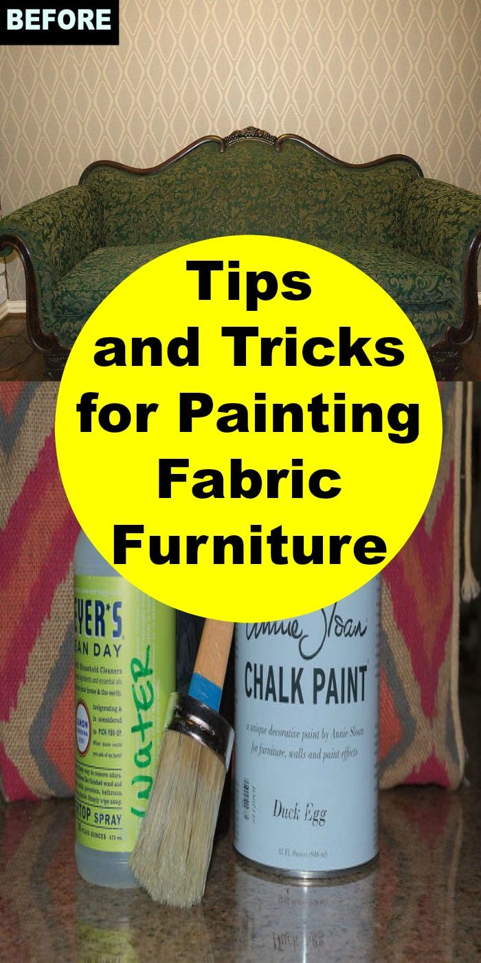I painted a fabric chair with horrible results ~ next time I'll use these tips!