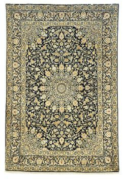 Shop for Persian Kashan 2 a lovely traditional rug for sale.   classical Shah-Abassi floral & medallion motif. Exceptional quality of weaving in highly unusual colour way. Superb kork (merino) quality wool pile. Signatured by master weaver. Ideal collectale rug.    #Melbourne #rugs #sale #shop #buy # online #home #store