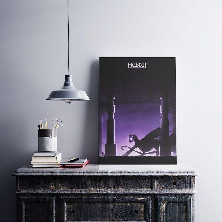 Smaug'un Çorak Toprakları - Metal Poster 40X28 cm ebatlarında javvuz kalitesiyle…