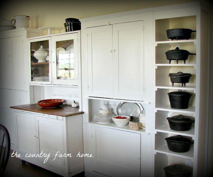 pinterest farmhouse backdoor entry | White Farmhouse Cabinets