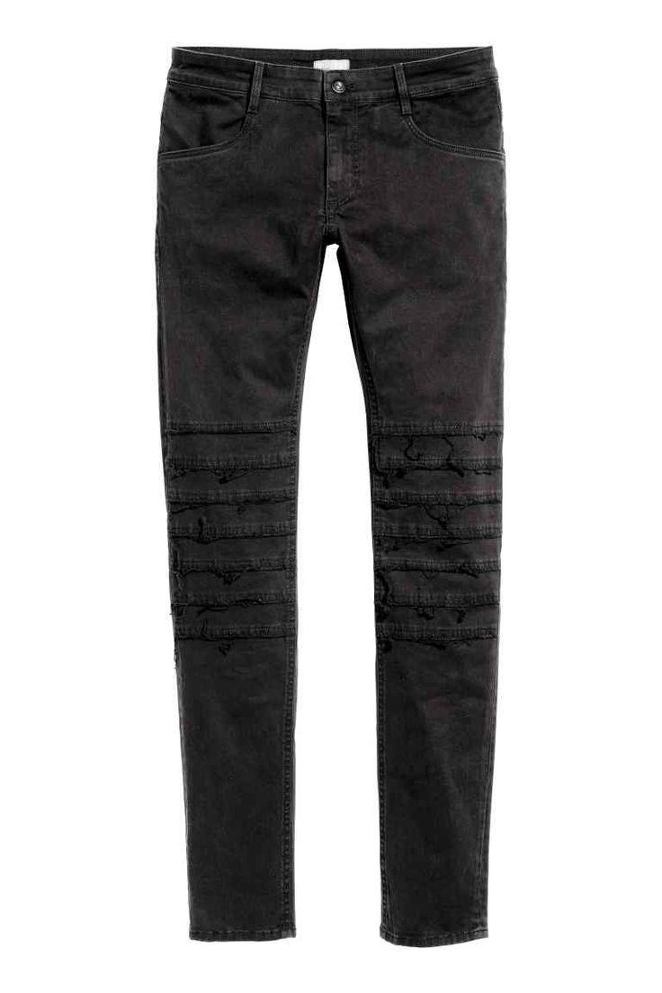 Skinny Low Jeans - Черный деним - Мужчины | H&M RU