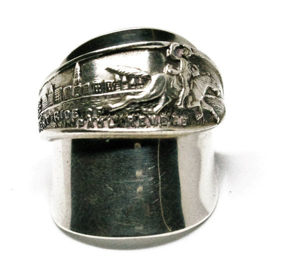 "Boston ""The Midnight Run"" Spoon Ring in Sterling Silver."
