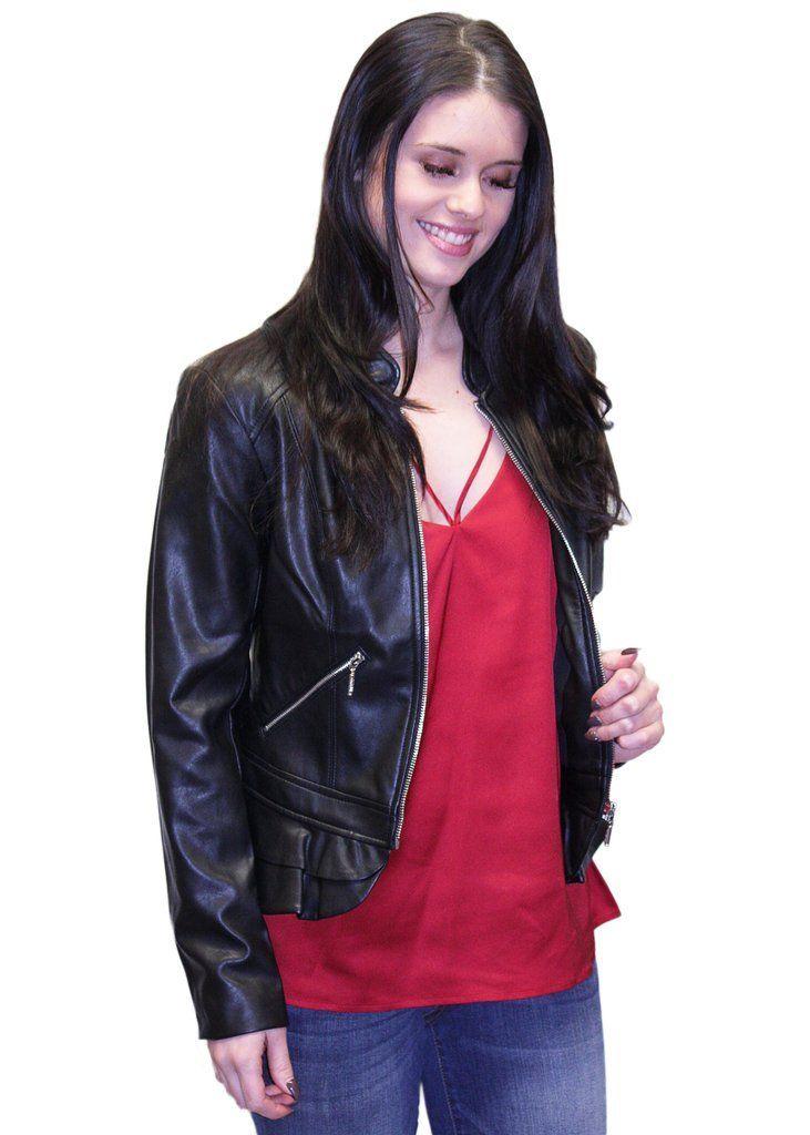 Guess Kate Flirty Faux-Leather Jacket