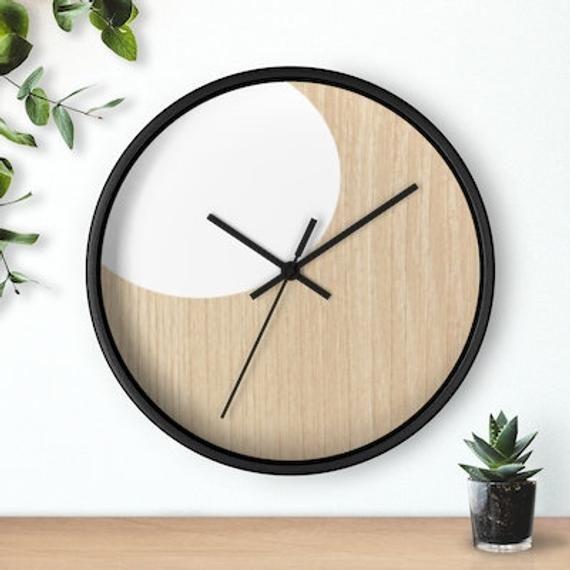 Classic Wall Clock Scandinavian Style Wall Clock 10 Inch White Etsy In 2020 Wall Clock Classic Wall Clock Clock