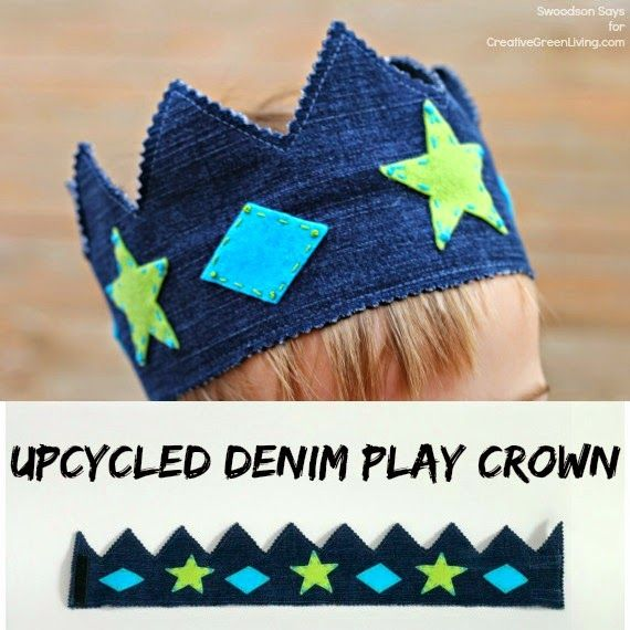 Upcycled Denim Play Crown ~ Creative Green Living