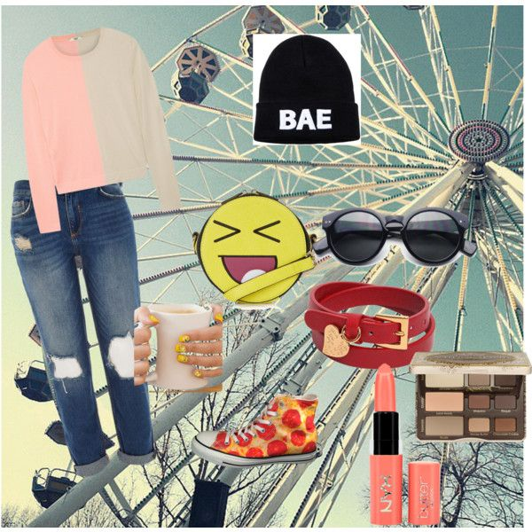 Untitled #17 by wirdaelsa on Polyvore featuring Fendi, River Island, Converse, Topshop, Valentino, Too Faced Cosmetics and NYX