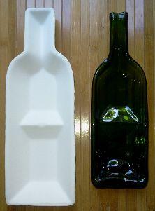 Bordeaux dual wine bottle slumping mold