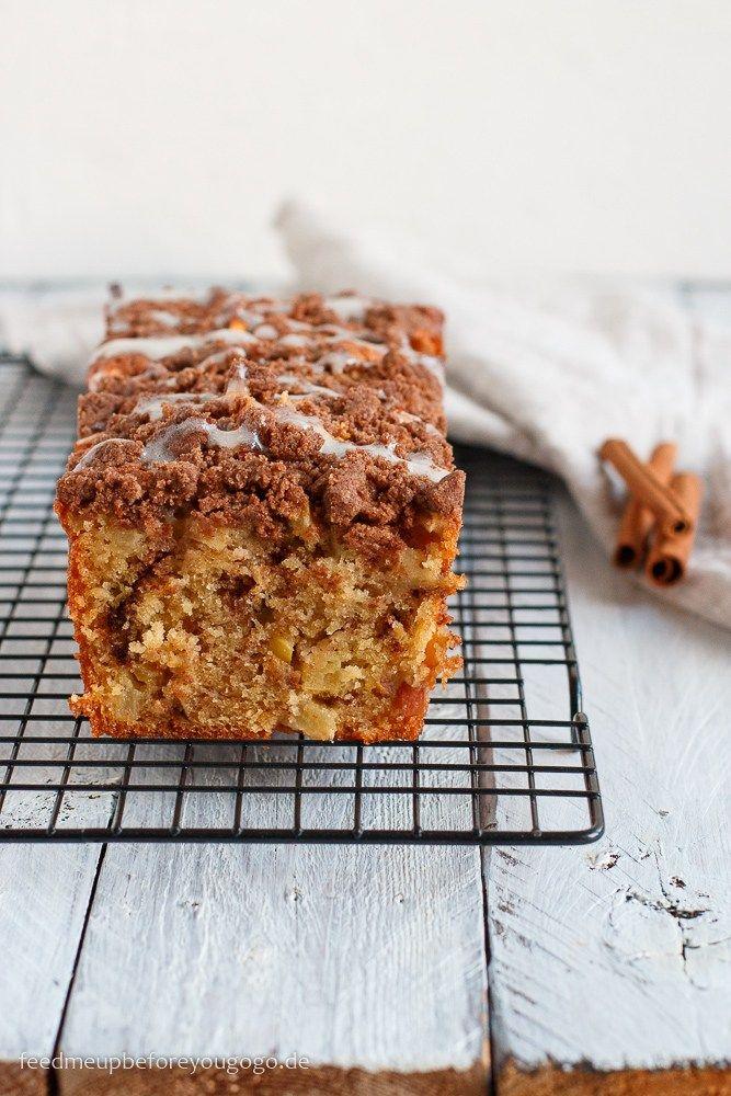 Saftiger wird's nicht: Apfel-Zimt-Kuchen mit Streuseln