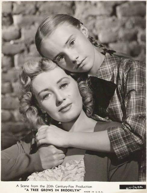 """Joan Blondell, Peggy Ann Garner in """"A Tree Grows in Brooklyn"""" (1945). Director…"""
