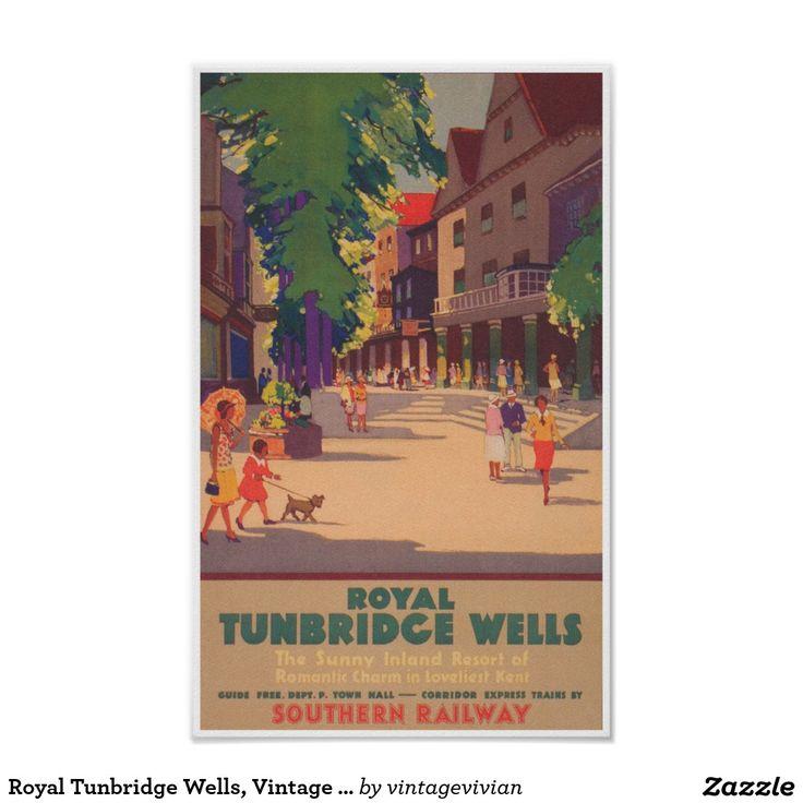 Royal Tunbridge Wells, Vintage Travel Poster