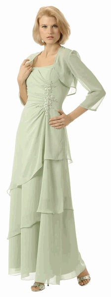 #2898POL Sage-Green Mother of the Bride Groom Dress Gown (Size S to 5 XL)