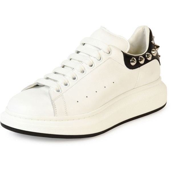 Alexander Mcqueen Studded Leather Low-Top Sneaker featuring polyvore, men's  fashion, men's shoes, men's sneakers, men's shoes sneakers, white, mens  sneakers ...