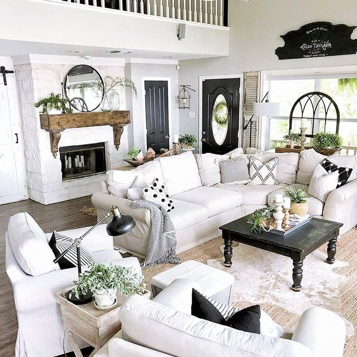 Farmhouse Living Room Decor Ideas in 2020 (With images
