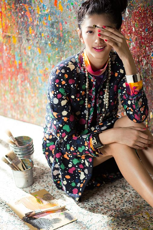 Play with Chanel: Wu I Hua in CHANEL Spring 2015 for Vogue Taiwan April 2015