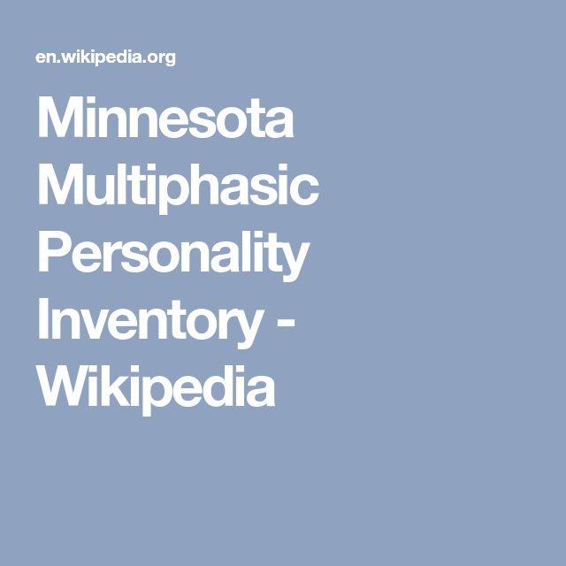 Minnesota Multiphasic Personality Inventory - Wikipedia