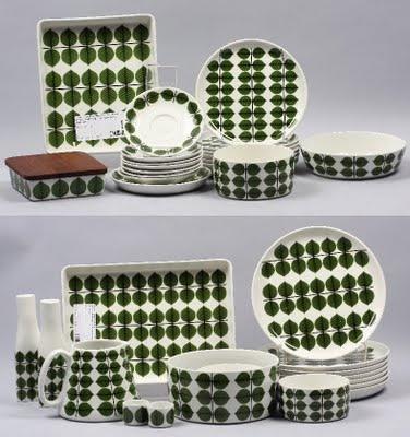 Porcelain set designed by Stig Lindberg